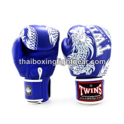 "Twins Boxing Gloves Thaiboxing FBGVL3-49 ""Dragon"" Blue"