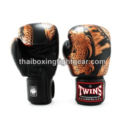 "Twins Boxing Gloves Thaiboxing FBGVL3-49 ""Dragon"" Black"