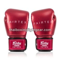 FAIRTEX BGV-22 THAIBOXING GLOVES METALLIC RED