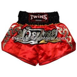Twins Muay Thai Short Satin Red