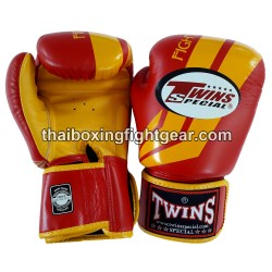 Twins Boxing Gloves Fancy Red BGVL-43