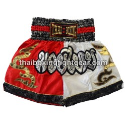Thai Boxing Muay Thai Short Red White