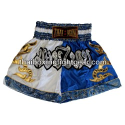 Thai Boxing Muay Thai Short Blue White