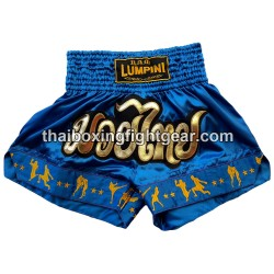 Lumpini Muay Thai Short Blue Cyan