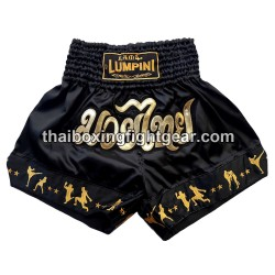 Lumpini Muay Thai Short Black Gold
