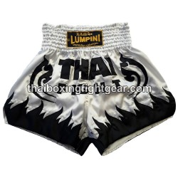 Lumpini Muay Thai Short White Black