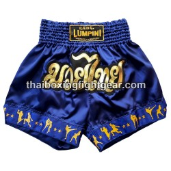 Lumpini Muay Thai Short Blue/Gold