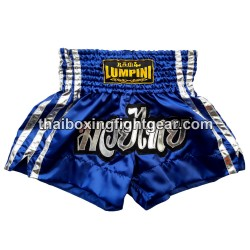 Lumpini Muay Thai Short Blue Silver
