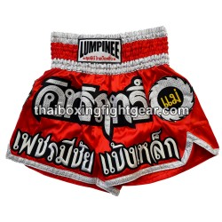 Lumpinee Muay Thai Short Red/White