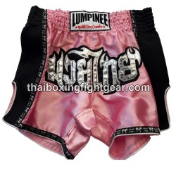 Short de boxe Thai Lumpinee rose / noir