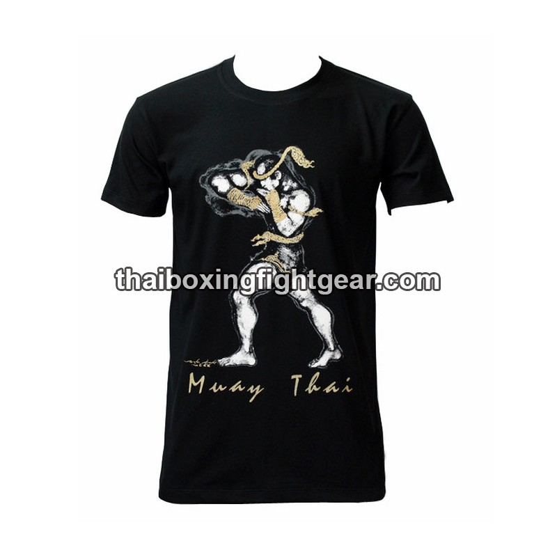 T-SHIRTS MUAY THAI BOXING TRAINING MMA GLOVES UFC GYM KICKBOXING TEE SHIRT K1