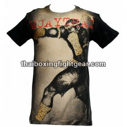 "Human Fight T-shirt ""Punch"" Black/Beige"