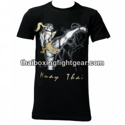 "Human Fight T-shirt ""High Kick 2"" Black"