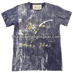"Human Fight T-shirt ""High Kick"" Blue"