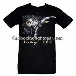 "Human Fight T-shirt ""High Kick"" Black"