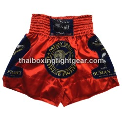 Human Fight Muay Thai Short Red