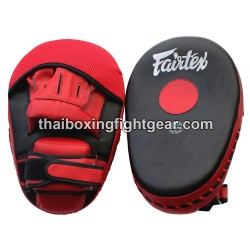 Fairtex Muay Thai/MMA Punching Mitts, Velcro Closure, Black/Red
