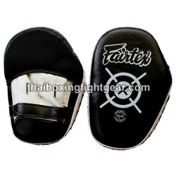 Fairtex Muay Thai/MMA Punching Mitts, Leather Black