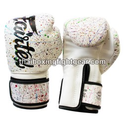 Fairtex Boxing Gloves Colorful White Edition